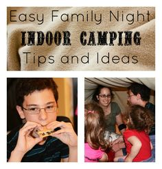 Indoor Camping {Tips and Ideas}