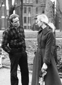 """Marlon Brando and Eva Marie Saint"""