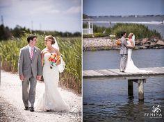 Bonnet Island Wedding, Bride and Groom Portraits, Beach Wedding, Photos courtesy of feminaphoto.com