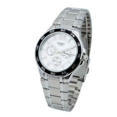 Casio Multifunction Bracelet Men's watch #MTP1300D7A-1V Casio. $35.01. 50 Meters / 165 Feet / 5 ATM Water Resistant. Quartz Movement. 42mm Case Diameter. Mineral Crystal