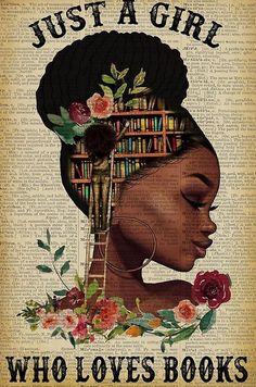 Black Love Art, Black Girl Art, Black Girl Magic, Art Girl, Black Girls, Girl Reading Book, Reading Art, Book Girl, Reading Books