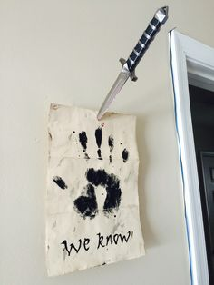 Skyrim Dark Brotherhood Note & Dagger