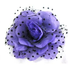Purple Rockabilly Rose Flower Hair Clip, Pin and Pony ($5.99) ❤ liked on Polyvore featuring accessories, hair accessories, purple hair accessories, purple hair clip, flower hair clip, rose hair accessories and purple flower hair accessories