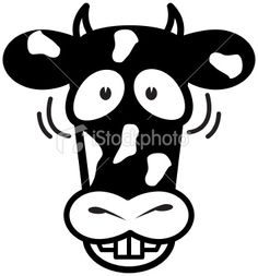 Crazy Cow Royalty Free Stock Vector Art Illustration
