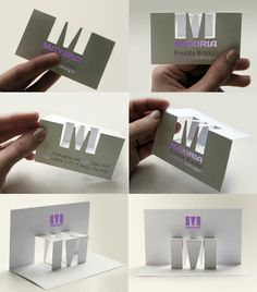 M - bussines cards & logo on the Behance Network