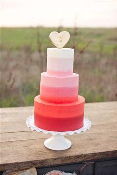 Pink Ombré Wedding Cake