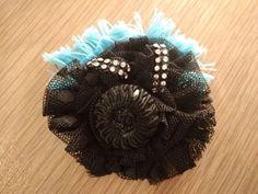 Unique handmade luxury brooch fabric flower pin with strass Fabric Flower Pins, Fabric Roses, Brooches Handmade, Vintage Brooches, Feather Hat, Hat Pins, Flower Shape, Flower Brooch, Hand Sewing