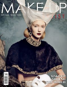Make-Up Artist magazine Issue 108 beauty cover, featuring make-up by artist Valeriya Kutsan | www.makeupmag.com