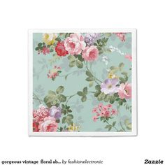 gorgeous vintage  floral abstract paper napkin