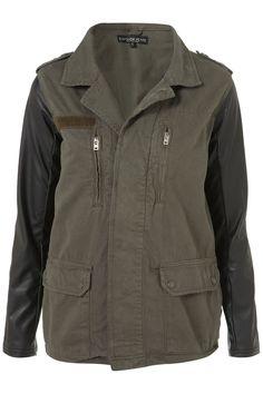 Contrast Army Jacket