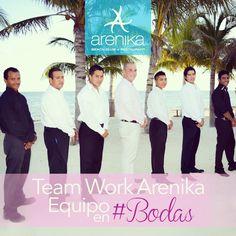 Team work #arenika for #weddings in #cancun