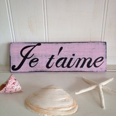 Je T'aime Wood Sign French I Love You Wood Sign Je by NotJustSigns, $19.99