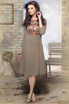 Designer Party Wear Georgette Kurti - $33.33
