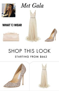 """""""Met Gala 2016"""" by iris-22 ❤ liked on Polyvore featuring Jimmy Choo, Jovani and Judith Leiber"""