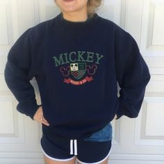 ⭐️Sunday price drop⭐️Vintage Mickey sweatshirt. Vintage xl Mickey green and blue Disney sweatshirt. Has some pilling in good vintage condition. Ask about purchasing the Minnie and Mickey sweatshirt as a combo. We ❤️ giving great deals. .⭐️Trusted posher with 4.9 rating and 1.3 average days to ship. We share and follow back. Vintage Tops Sweatshirts & Hoodies