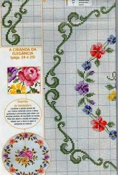 1838 Best Flower Stitchery images in 2019 | Counted cross