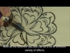 Easy how-to demo to show simple steps for transferring image onto wood for pyrography woodburning for beginners.