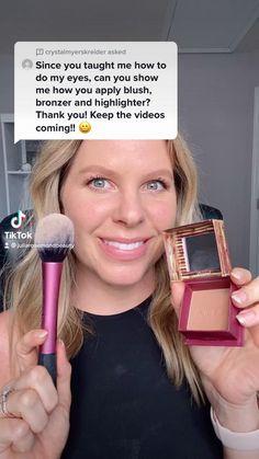 Face Makeup Tips, Quick Makeup, How To Do Makeup, Makeup Hacks, Makeup Videos, Makeup Tutorials, Simple Makeup, Hair Hacks, Natural Makeup