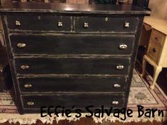 dresser makeover in american paint company's smoke signal and cannonball