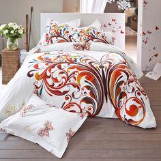 cool linge de lit volutes papillons coton vue catalogue with housse couette japon. Black Bedroom Furniture Sets. Home Design Ideas