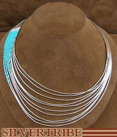 I love me some Turquoise!!!! This Native American inspired necklace can show that this beautiful stone can have a sleek polished look. Perfect for the job or night out!  Hand Strung Liquid Silver Blue Turquoise Waterfall Necklace LS147T