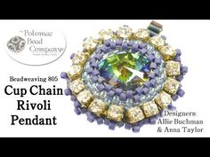 Cup Chain Rivoli Pendant - YouTube, designed by Potomac Bead Company, with supplies at www.potomacbeads.com