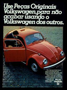 Anúncio peças originais Volkswagen - 1978