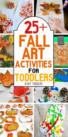 AWESOME FALL ACTIVITIES: Your toddler will love all 50+ of these simple activities! Celebrate fall with art/craft activities, sensory based learning and other simple activities for toddlers; you will love that this list is broken up into sections: art, sensory, and simple activities