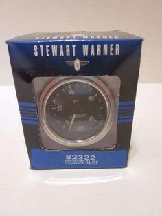 """Stewart Warner Deluxe Series Mechanical Oil Pressure Gauge 2 1/16"""" Dia 82322 #StewartWarner"""