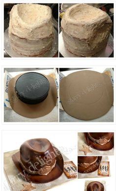 Cowboy hat cake tutorial ♥