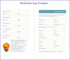 Free Medication Log Template | templates | Pinterest | Template and Logs