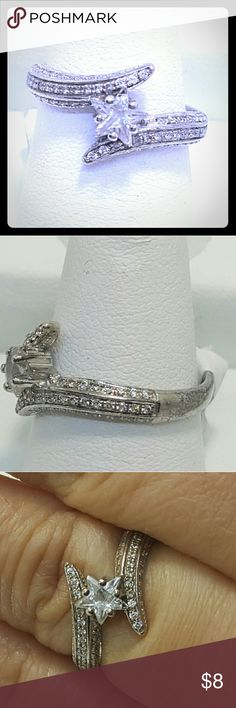"""925 silver ring w cz star stone 925 sterling silver ring with cz star stone engraved with """"you are my shining star"""" Jewelry Rings"""