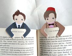 OMG! Yeah, that's right, Doctor Bookmarks!  Thanks to Natalie (in the comments below), here's the etsy link to these adorable bookmarks! There's also Tardis, 9, Sherlock... lots of adorableness! So cute! http://www.etsy.com/listing/93892088/bookmark-set-number-10-and-11?ref=shop_home_active