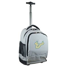NCAA South Florida Bulls Grey Premium Wheeled Backpack
