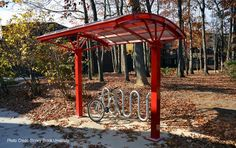 bike shelter modern, made in USA by Brasco International a bike shelter manufacturer