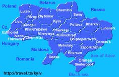 map of ukraine - Google Search
