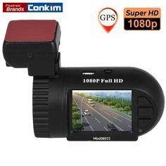 Conkim Dash Camera 1080P Full HD Car DVR Digital Car Recorder Super Capacitor Mini 0801S With GPS+G-Sensor+Night Vision DVRs