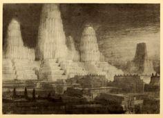 Hugh Ferrriss's hypothetical skyscrapers