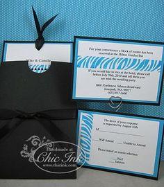 Custom turquoise zebra print wedding invitation created at Chic Ink Custom Invitations, Wedding Invitations, Zebra Wedding, What Is Work, Bat Mitzvah, Zebra Print, Dream Wedding, Wedding Ideas, Turquoise