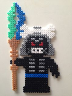 Ninjago - Lord Garmadon. Hama perler Pearler Bead Patterns, Perler Patterns, Bead Crafts, Diy And Crafts, Hama Disney, Beading For Kids, Legos, Lego Craft, Hama Beads Design