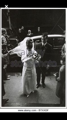 frances shea on her way to her wedding