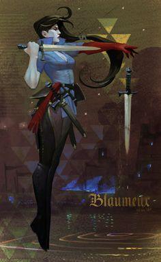 Blaumeux fanart, Elena Bespalova on ArtStation at https://artstation.com/artwork/blaumeux-fanart