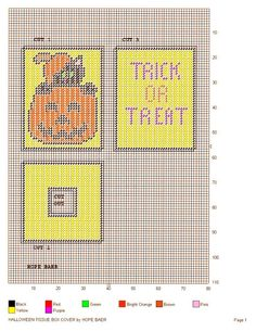 HALLOWEEN TISSUE BOX COVER by HOPE BAER