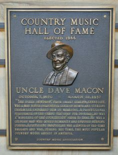 Uncle Dave Macon - Inducted in 1966