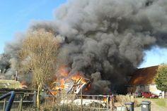 Grote brand bij Egmond aan den Hoef. Foto: Maurice Amoureus