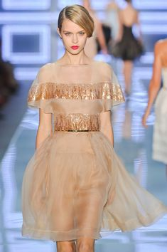 Christian Dior at Paris Fashion Week Spring 2012 - StyleBistro Couture Fashion, Runway Fashion, High Fashion, Simply Fashion, Paris Fashion, Dior Dress, Sheer Dress, Beautiful Cocktail Dresses, Lovely Dresses