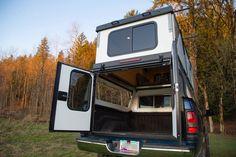Truck Topper Camper, Truck Camper Shells, Truck Toppers, Pop Up Truck Campers, Pickup Camper, Rv Campers, Pickup Trucks, Camper Van, Petit Camping Car