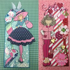 """My new tags. Made with pebbles """"winter wonderland"""" & pebbles """"be mine"""". Different size circle punches. Products purchased at Wooten's Scrapbook co."""