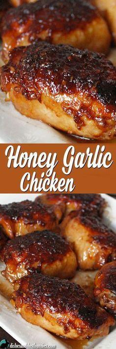 Delicious Honey Garlic Chicken (plus some really tasty sauce!) - Bary's Recipes Delicious Honey Garlic Chicken (plus some really tasty sauce! Turkey Recipes, New Recipes, Cooking Recipes, Favorite Recipes, Healthy Recipes, Recipes Dinner, Cheap Recipes, Potato Recipes, Gastronomia