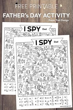 Free printable I Spy Father's Day activity page including dads, tools, ties, sports, and mustaches. Print and use to help kids think of dad on his special day. Sports Activities For Kids, Father's Day Activities, Sunday School Activities, Father's Day Printable, Free Printables, Party Printables, Father's Day Games, Teacher Appreciation Quotes, Teacher Cards